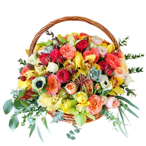 """Цветы в корзинке """"Фантазия"""""""